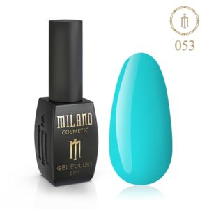 Гель-лак Milano Cosmetic 8 мл № 053 (Лазурь) цена