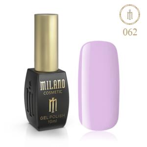 Гель лак MILANO 10ml № 062 (Очень бледный фиолетовый)