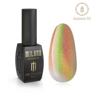 Гель-лак Milano Cosmetic Cat Eye Aurora 8 мл № 01 (Милано Косметик Кошачий Глаз Аврора)