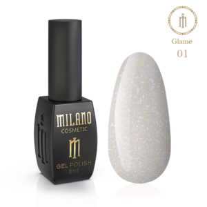 Гель-лак Milano Cosmetic Glame 8 мл № 01 (Милано Косметик Глеми)