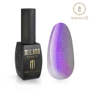 Гель-лак Milano Cosmetic Cat Eye Aurora 8 мл № 02 (Милано Косметик Кошачий Глаз Аврора)