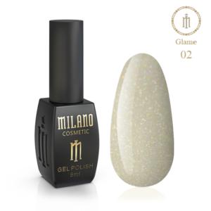 Гель-лак Milano Cosmetic Glame 8 мл № 02 (Милано Косметик Глеми)