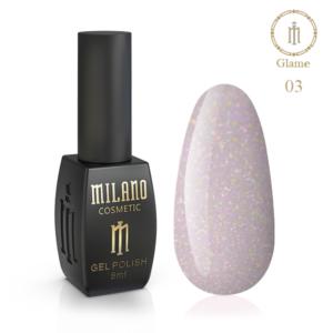 Гель-лак Milano Cosmetic Glame 8 мл № 03 (Милано Косметик Глеми)