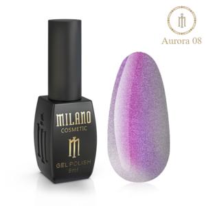 Гель-лак Milano Cosmetic Cat Eye Aurora 8 мл № 08 (Милано Косметик Кошачий Глаз Аврора)