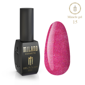 Гель-лак Milano Cosmetic Miracle 8 мл № 15 (Милано Косметик Мираж)