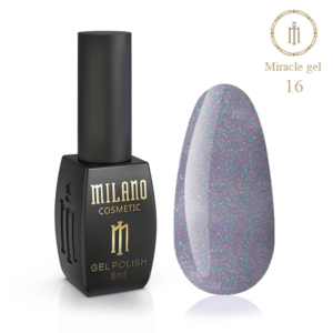 Гель-лак Milano Cosmetic Miracle 8 мл № 16 (Милано Косметик Мираж)