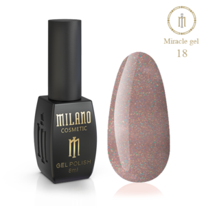 Гель-лак Milano Cosmetic Miracle 8 мл № 18 (Милано Косметик Мираж)